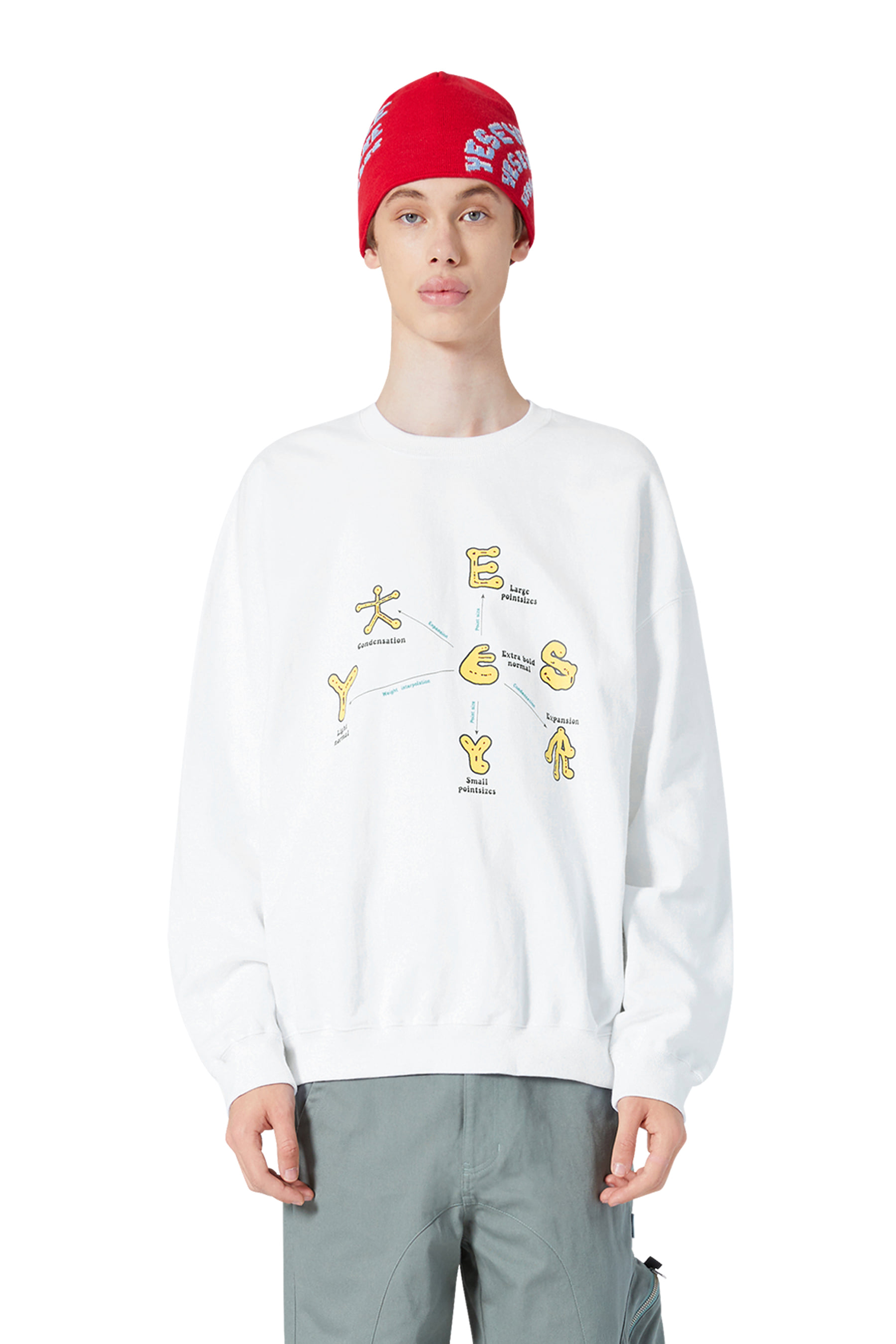 Y.E.S Optical Sweatshirts White