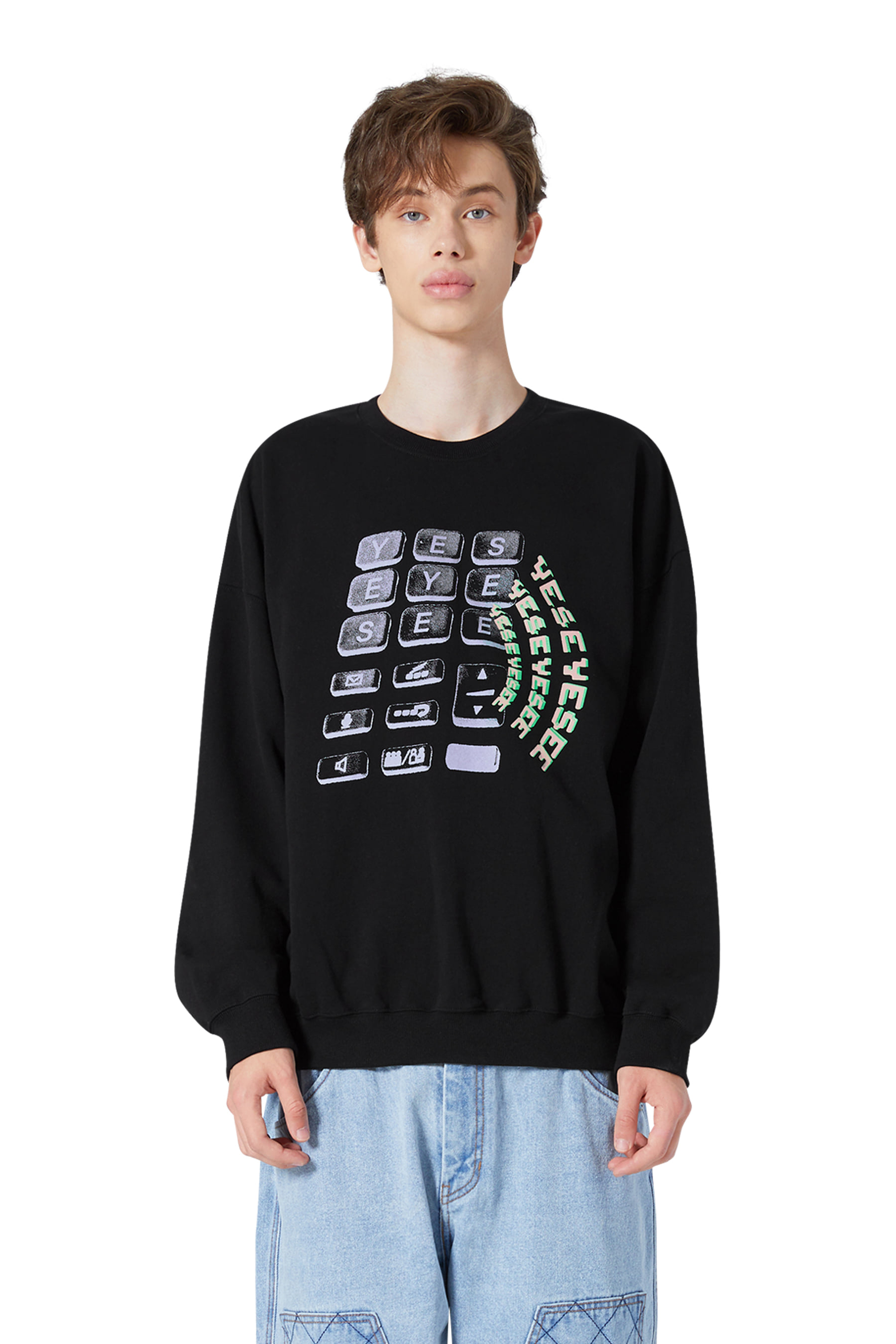 Y.E.S Wifi Sweatshirts Black