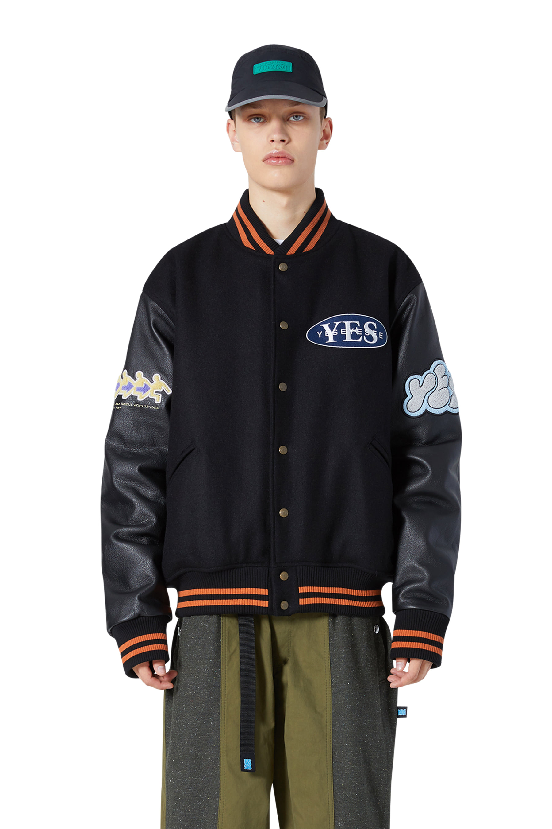 Poker Varsity Jacket Black