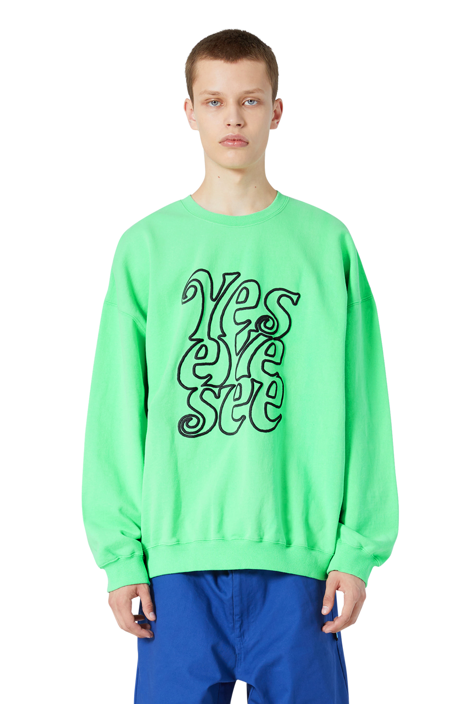 Solid Sweatshirts Neon Green