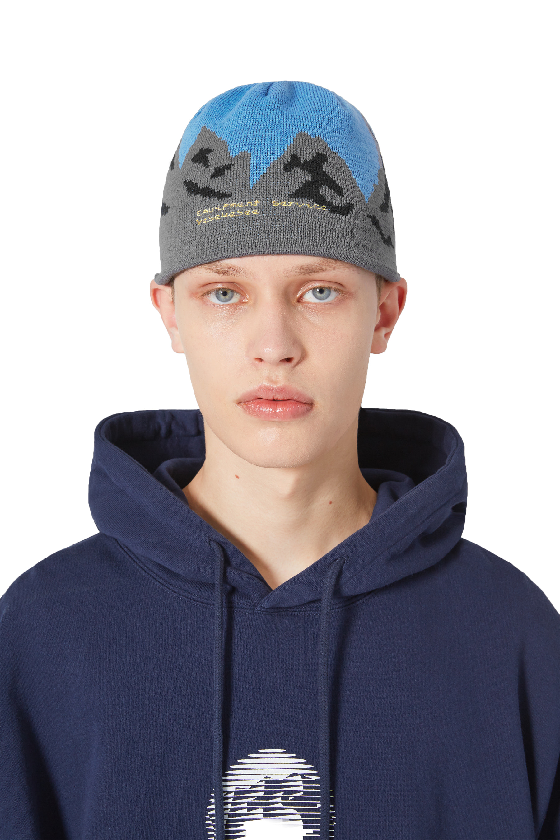 Y.E.S Mountain Beanie Blue