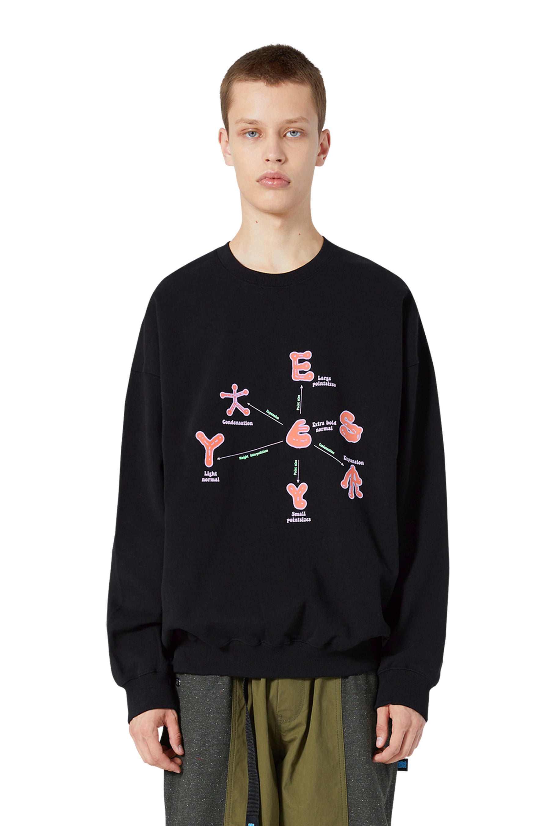 Y.E.S Optical Sweatshirts Black
