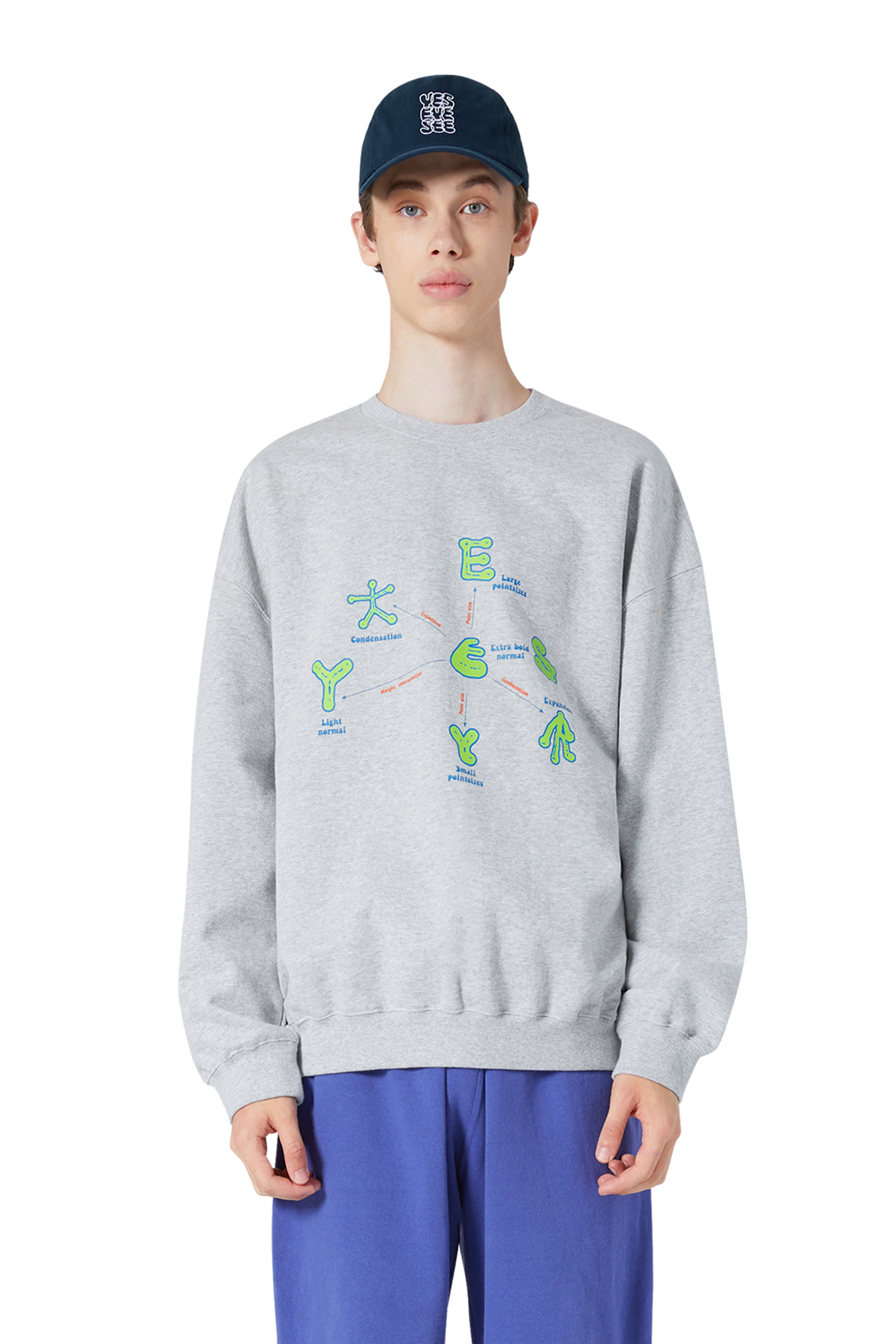 Y.E.S Optical Sweatshirts Grey
