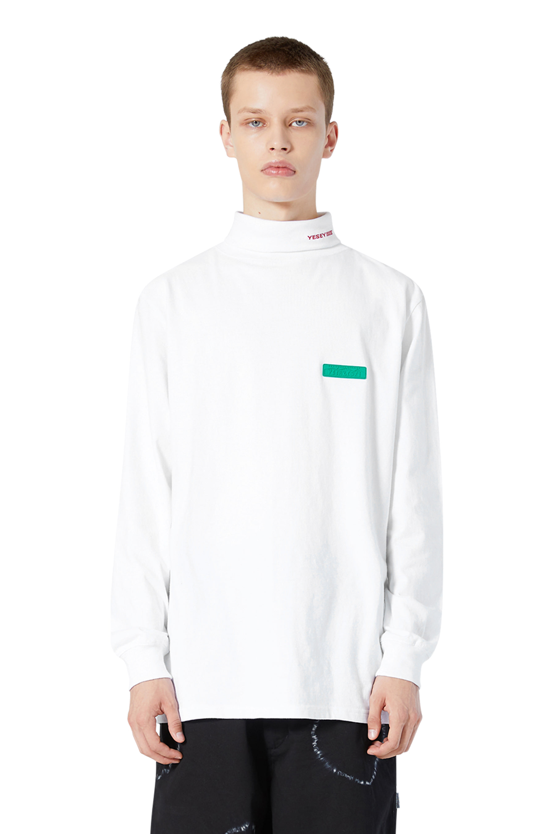 Y.E.S Twist Turtle Neck White