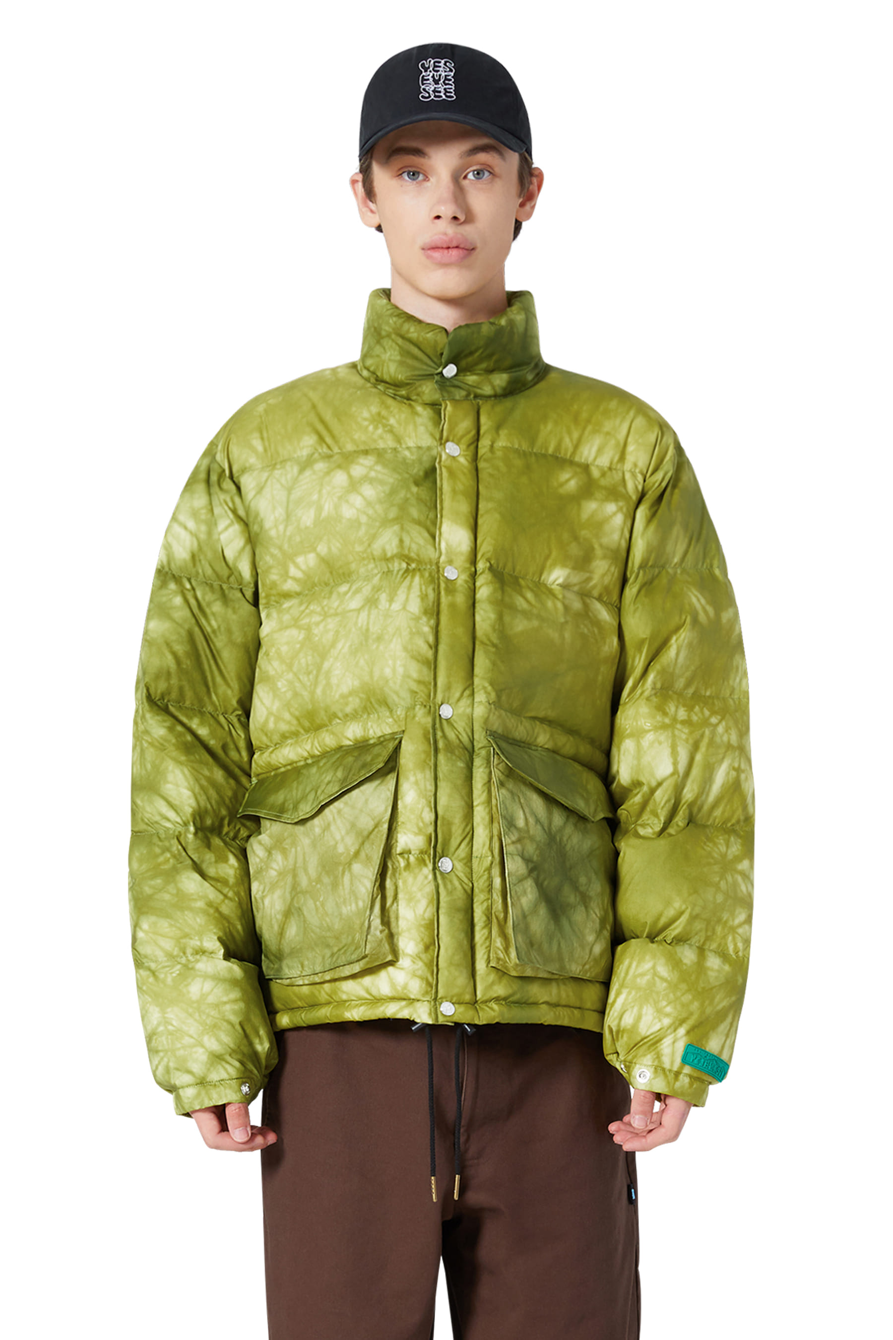 Y.E.S Dyed Down Jacket Lime
