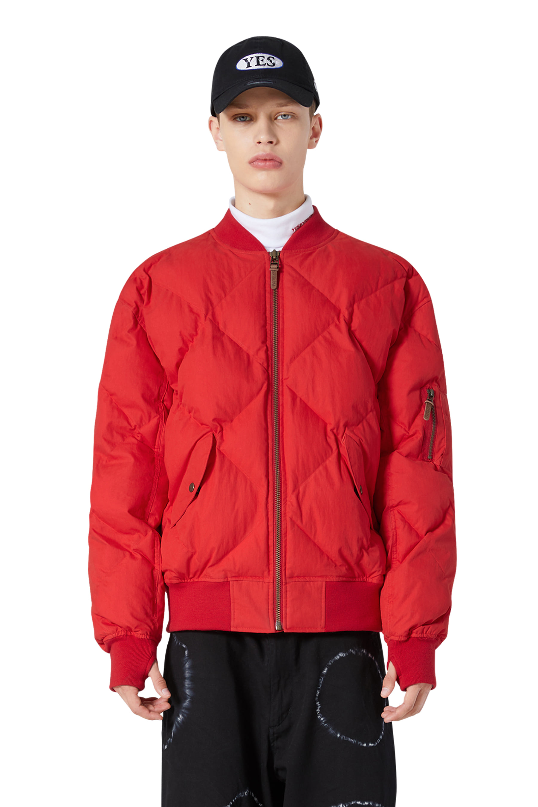 MA1 Puffer Jacket Red