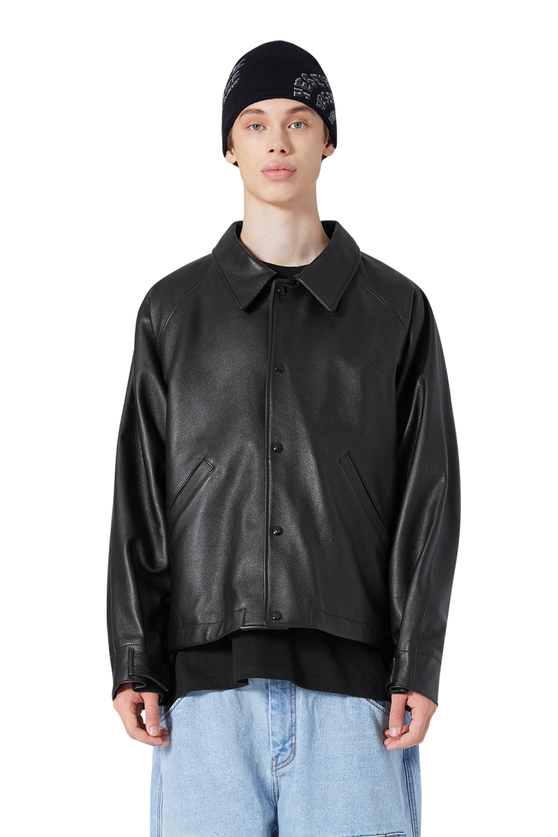 Y.E.S LEATHER JACKET Black