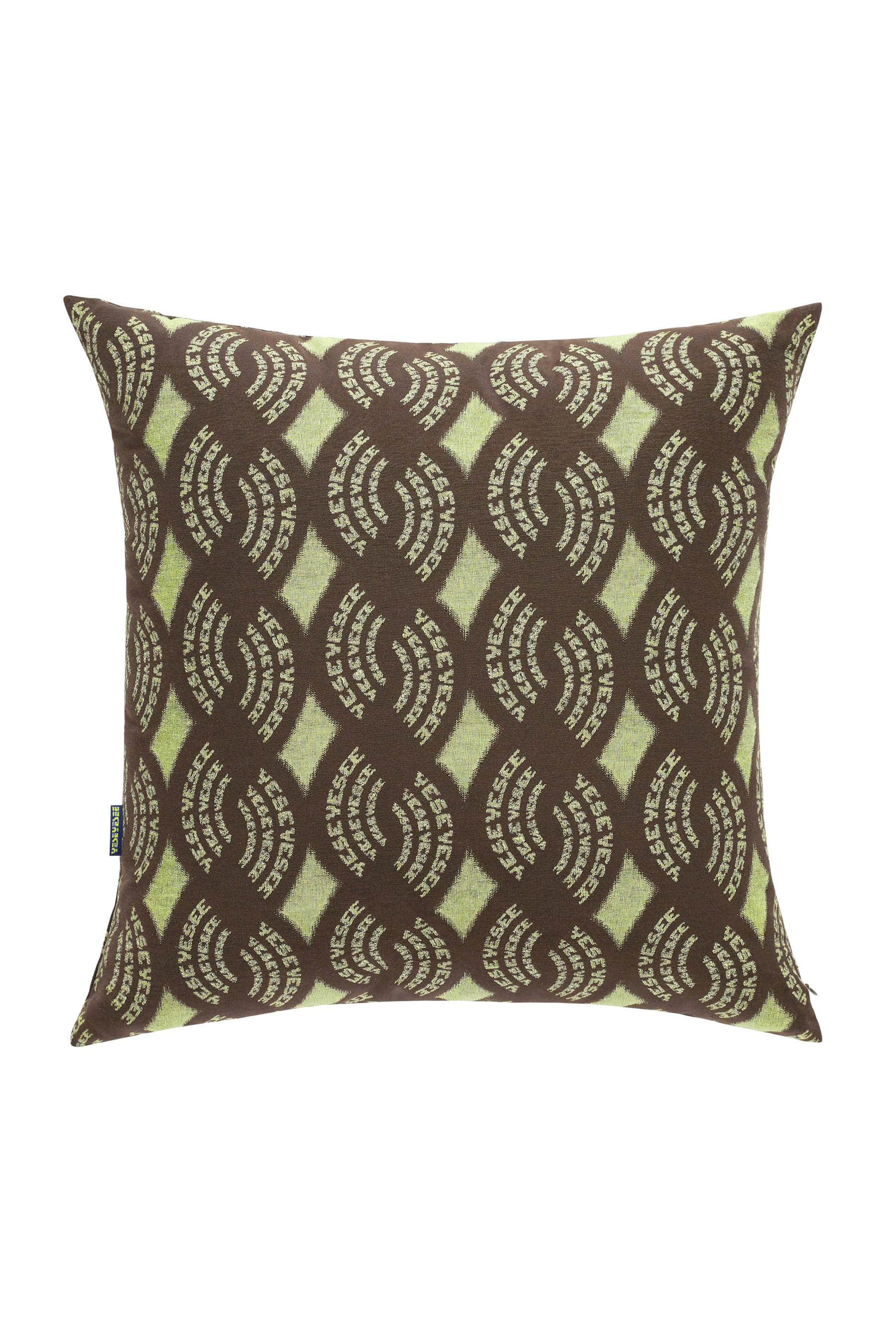 Y.E.S Jacquard Cushion Brown