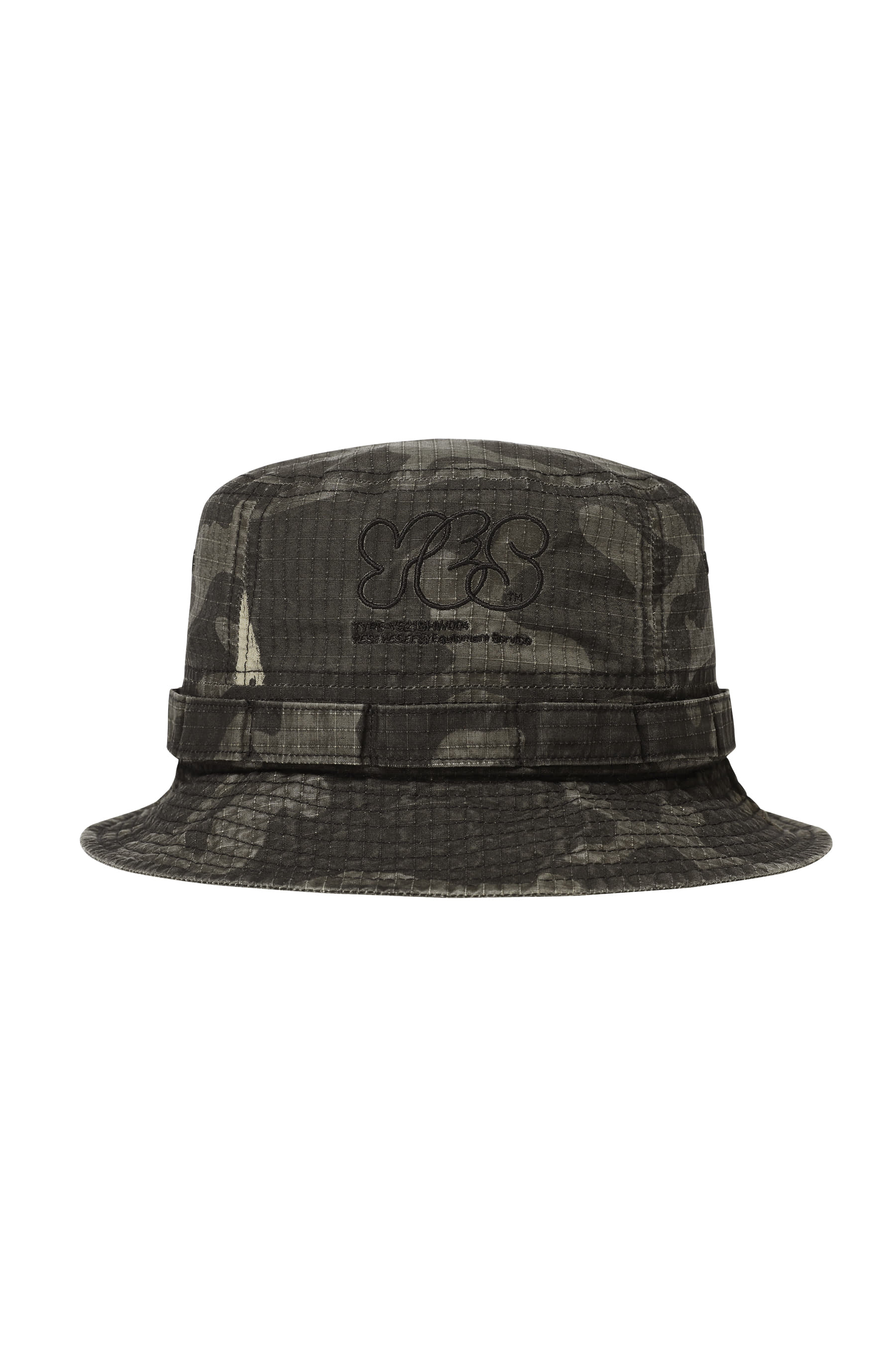 Y.E.S Military Bucket Hat Black Camo