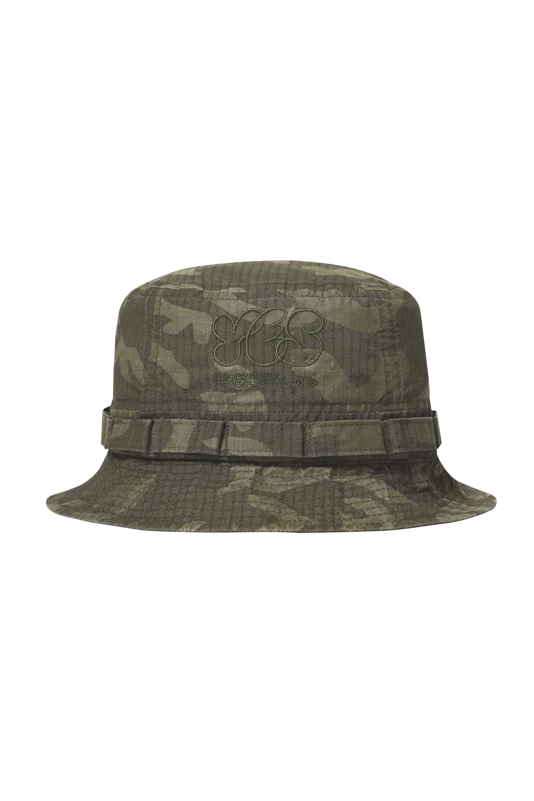 Y.E.S Military Bucket Hat Olive Camo