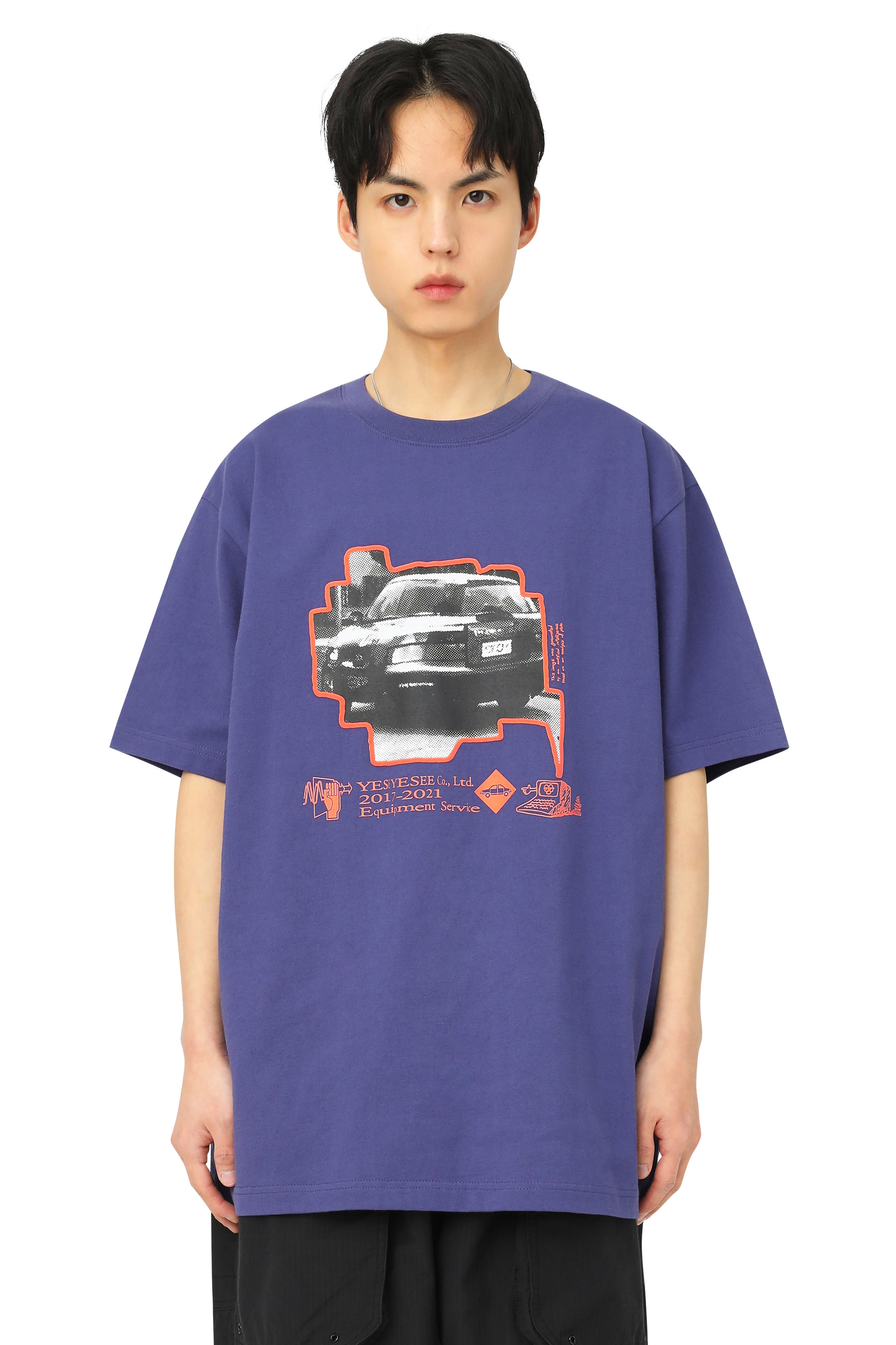 Y.E.S In/Output Tee Violet