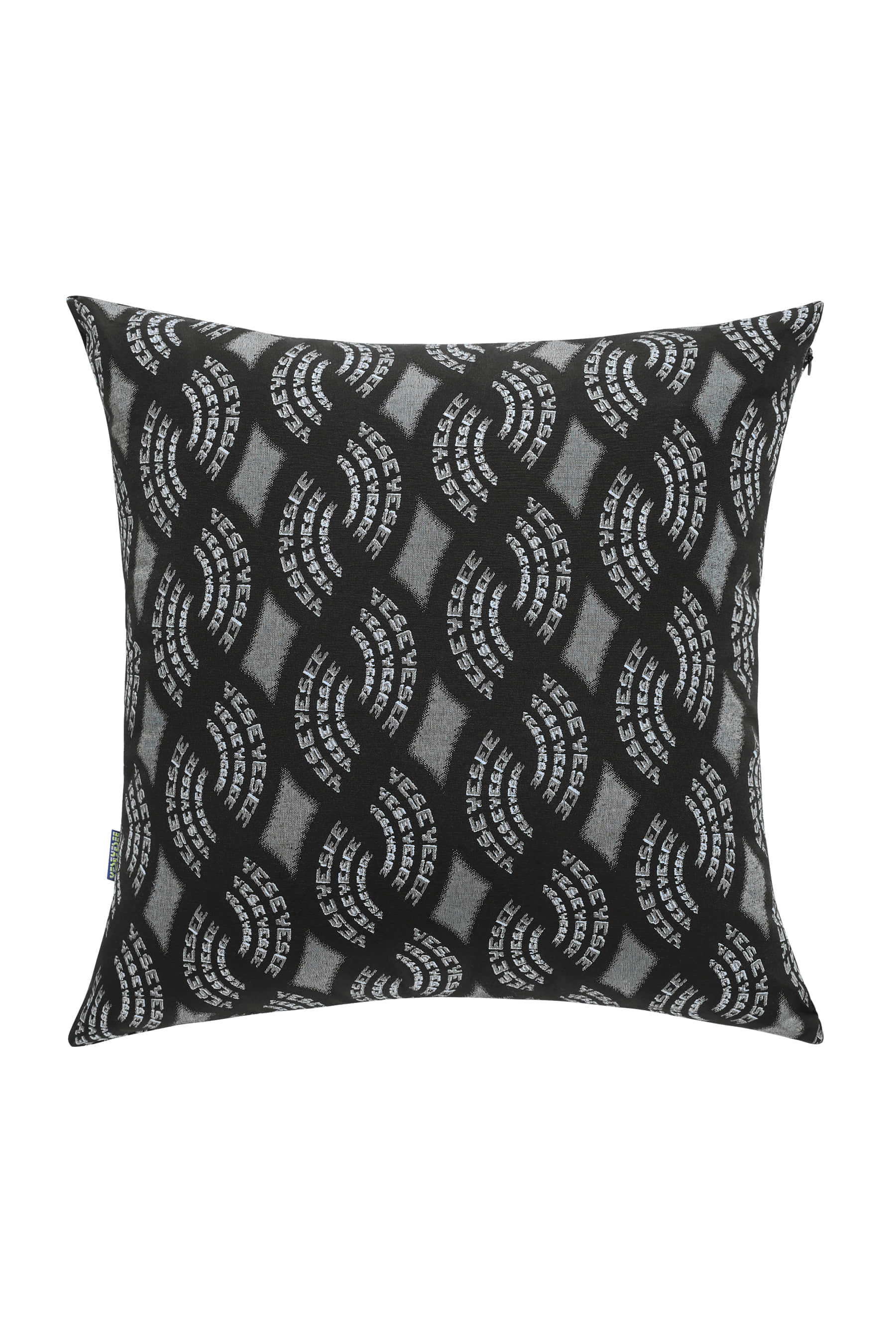 Y.E.S Jacquard Cushion Black