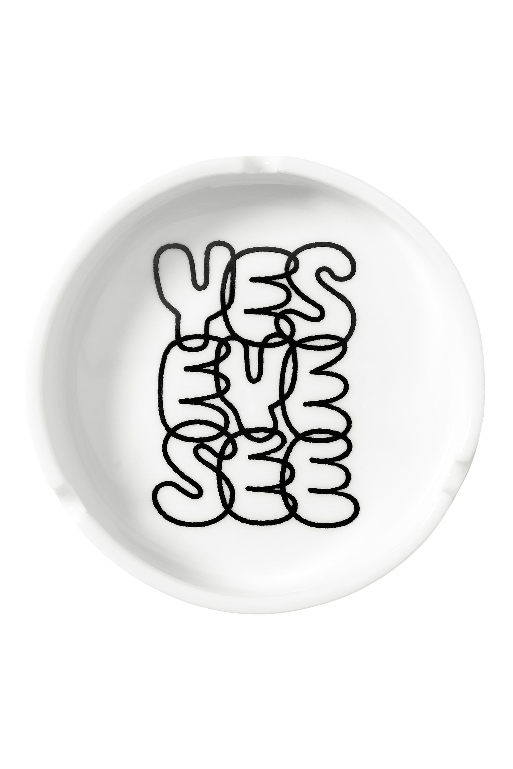 Y.E.S Ashtray White
