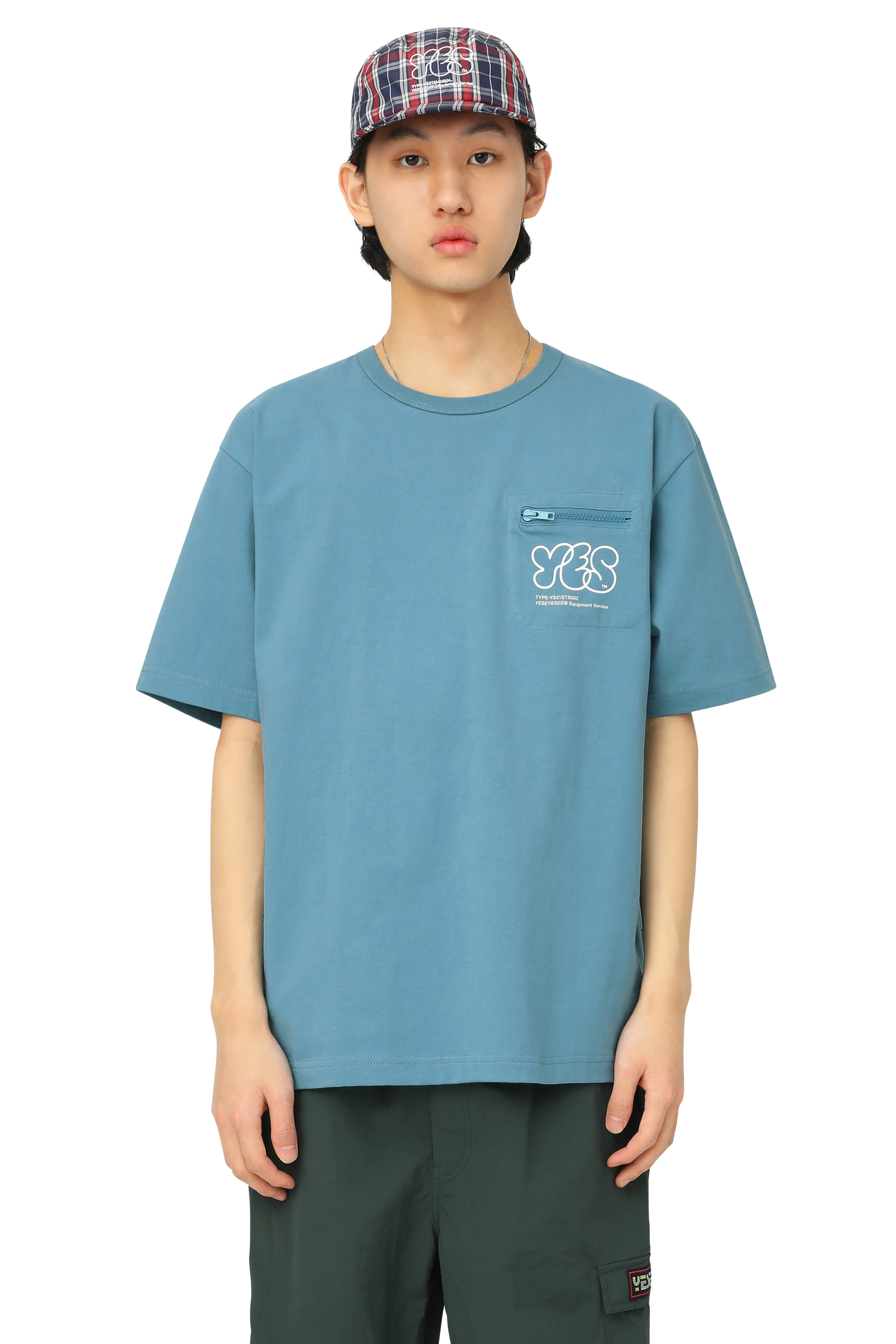 Y.E.S Pocket Tee Oriental Blue