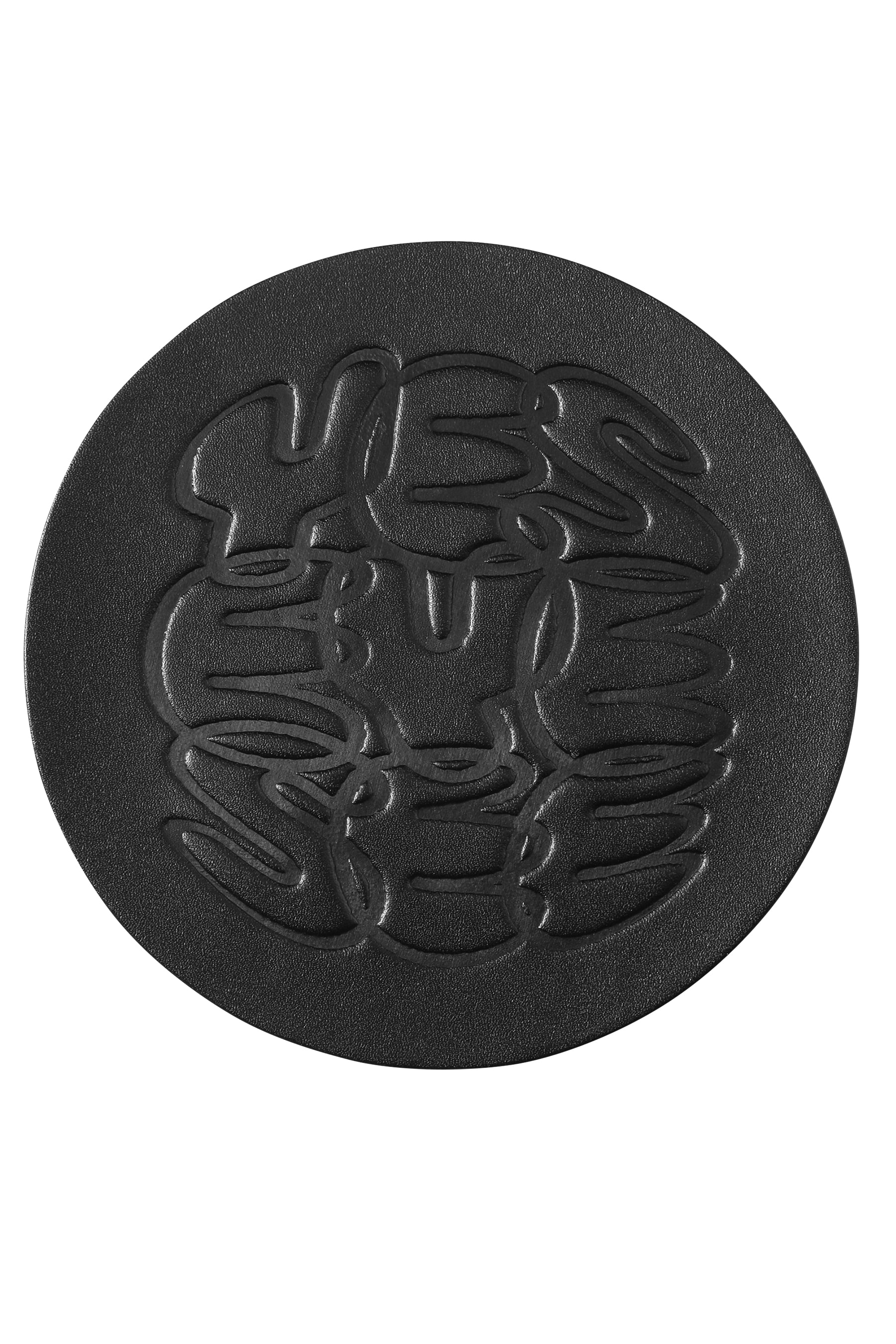 Y.E.S Leather Coaster Black